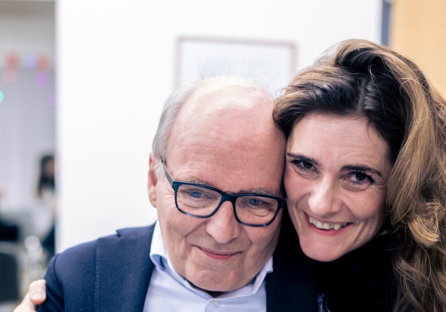 Hans Staud mit Claudia Sallagar