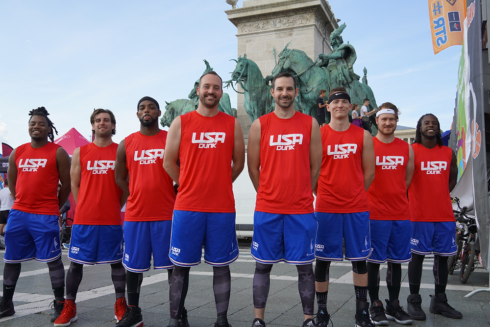 USA DUNK at historic Heroes Square in Budapest, Hungary #BuDUNKpest2019