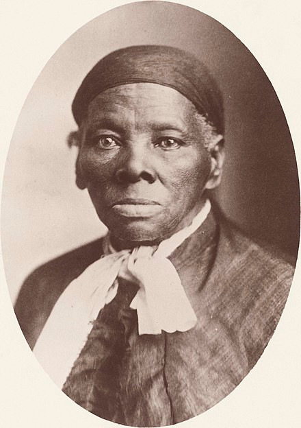 Black and white image of Harriet Tubman