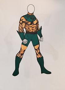 Garnet Warrior Full Body Green Accents.j