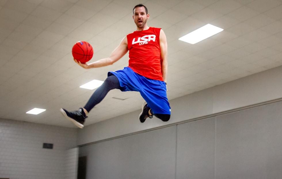 Greg Mueller mid air. Photo credit: j.wilkinsphotography