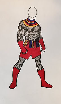 Graphite Warrior Full Body Red Accents.j