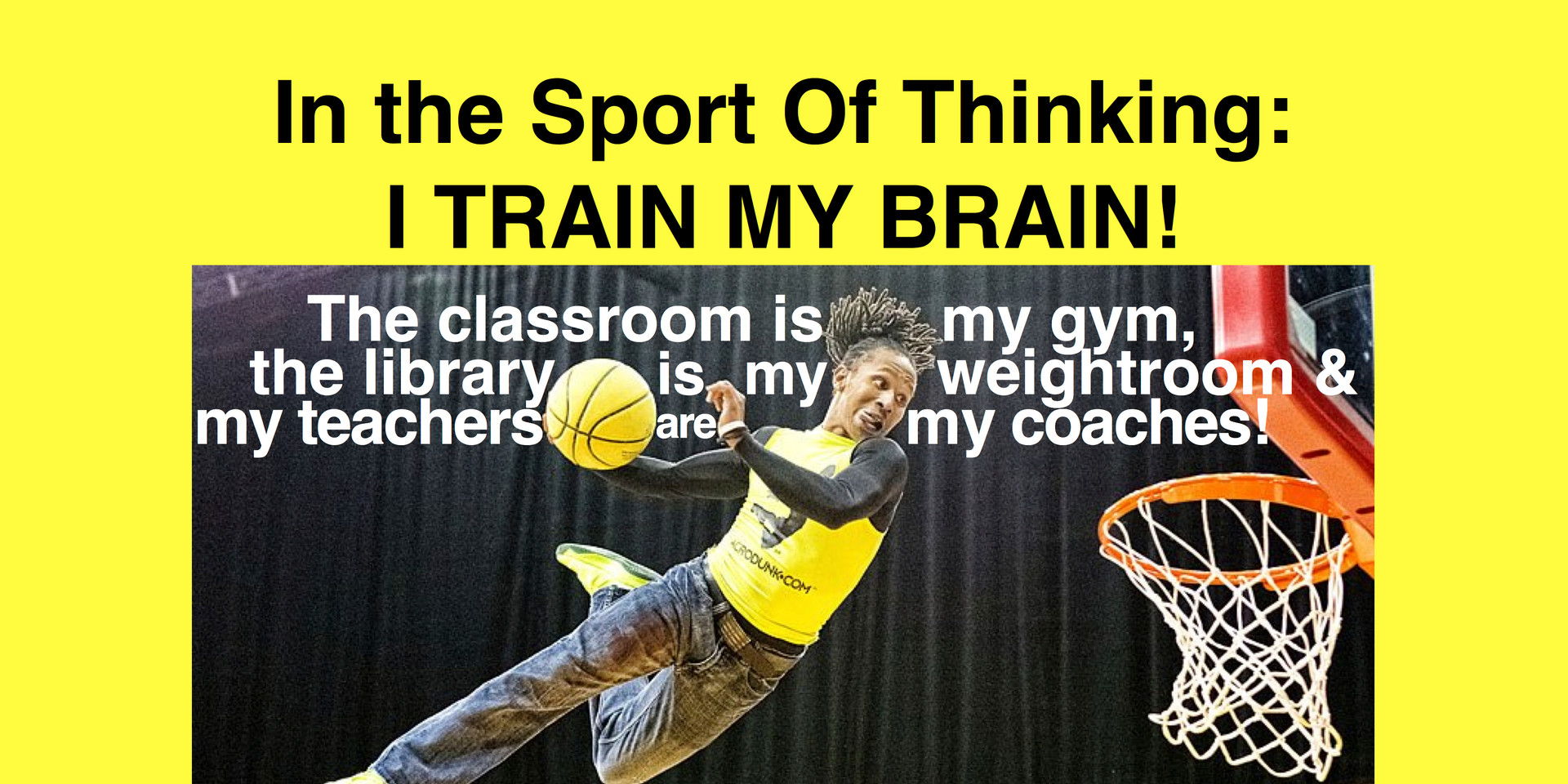 Classroom is my gym!