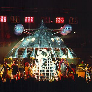 Parliament Funkadelic's iconic Stage show prop that actually flew across arenas and landed on stage