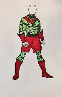 Emerald Warrior Full Body Red Accents.jp