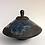 "Thumbnail: 'Blue Fig Leaves' Vessel  8"" x 11"" dia"
