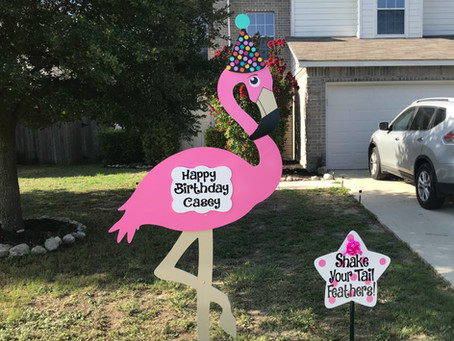 Flock the yard with our new Flamingo!