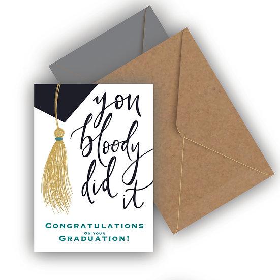 Graduation Card Congratulations Tassel Graduation Card