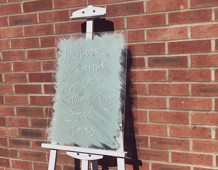 Clear & Frosted Acrylic 3mm Personalised Quote Sign  White Classic Relaxed Welcome Quote Sign Modern Rustic Barn Wedding  Mod