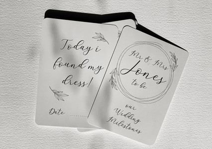 Wedding Planning Milestone Cards
