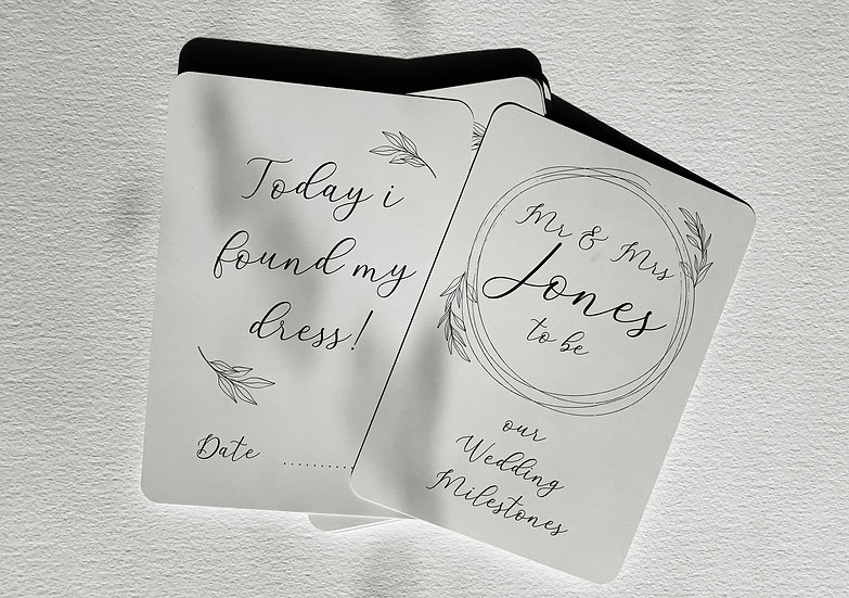 WEDDING PLANNING ENGAGEMENT MILESTONECARD MEMORY CARD WEDDING TIMELINE CARD WEDDING SCRAPBOOK WEDDING MEMORY BOX