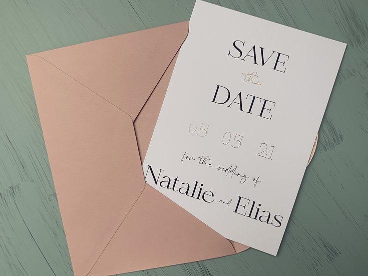 "Wedding Save the Date ""Modern Elegance"""