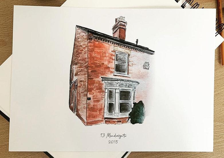 Home Illustration Print A3 A4