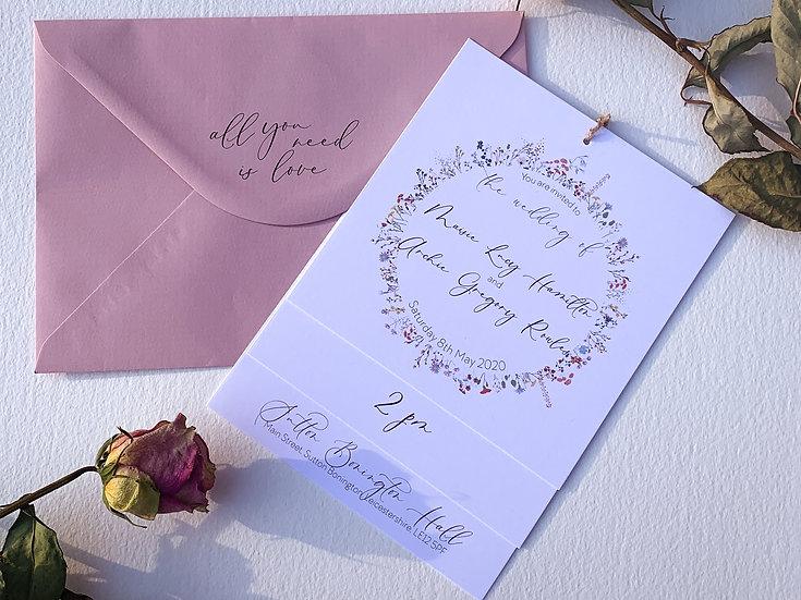"Wedding Invitation Bundle ""Festival Blooms"""
