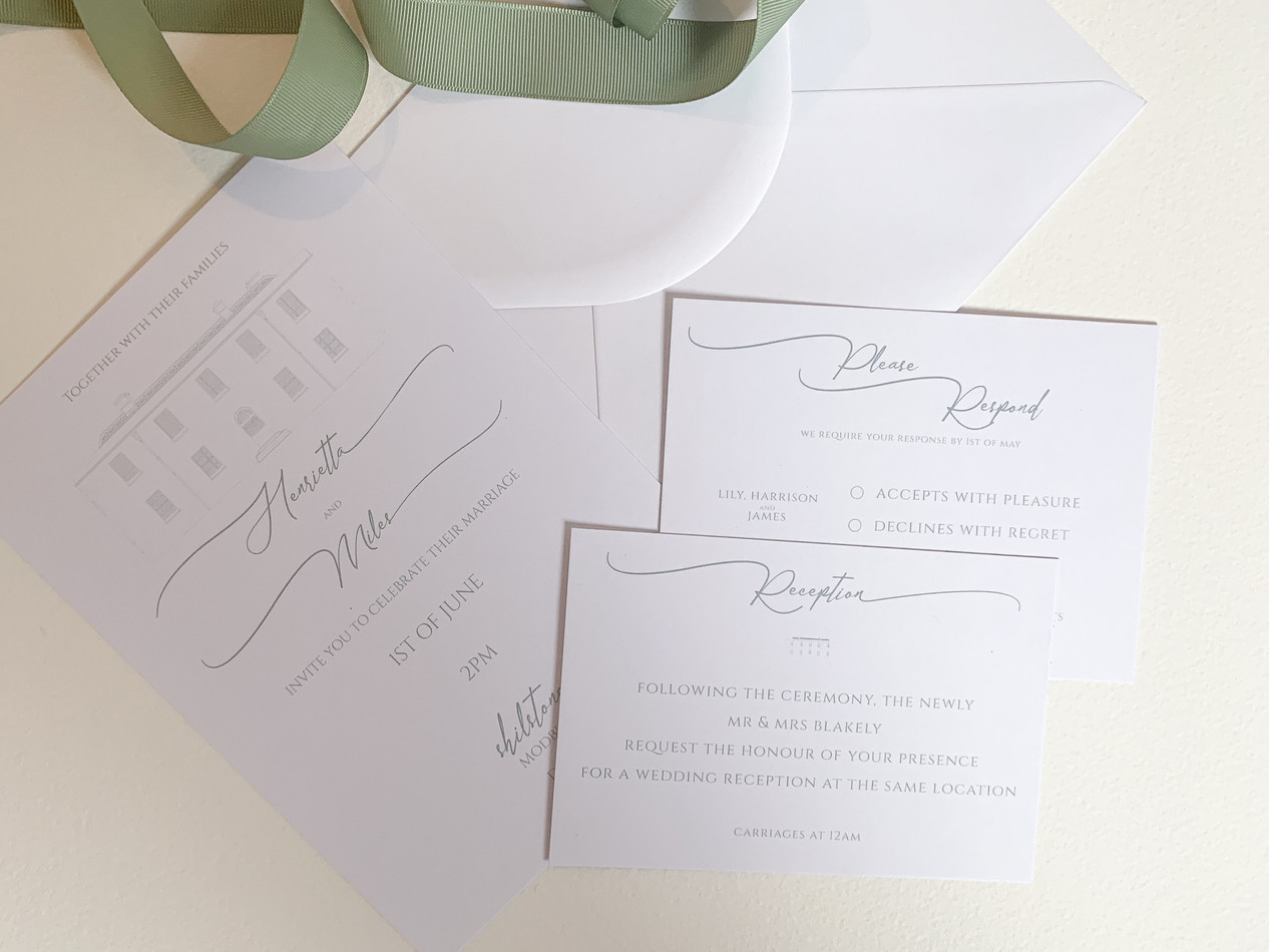 Wedding Venue Invitation or Save the Date