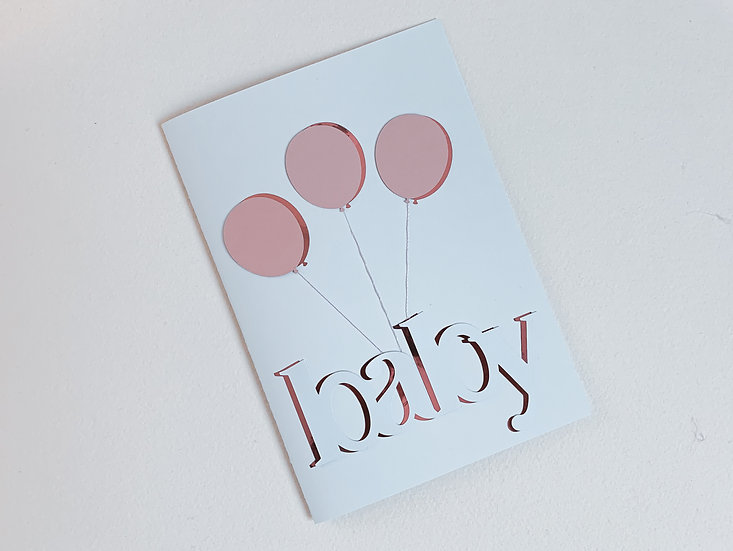 3D Foil Baby Shower card, baby shower card, Pregnancy card, A5 Card, mum to be card