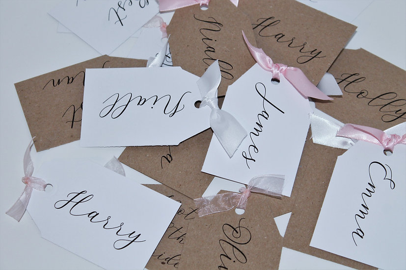 Kraft tag Placename cards Place cards Place Name Cards White Classic Relaxed Modern Rustic Barn Wedding Vel