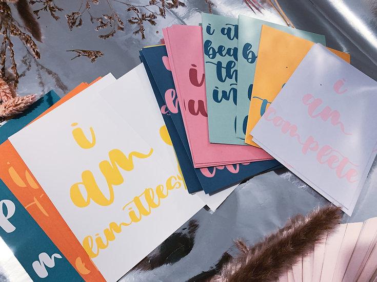Affirmation cards, affirmation gift, daily affirmation, affirmation card gift, thoughtful gift, personalised affirmation card