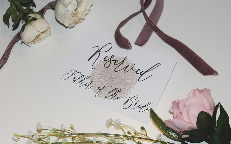 Boho Floral Festival  Wedding  Service / Ceremony Reserved Tags Velvet Pink  Flowers Bright Colourful Kraft