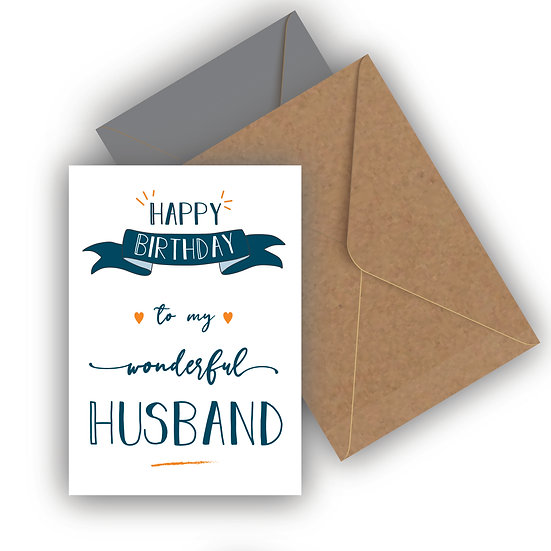 Happy Birthday Husband Birthday Card