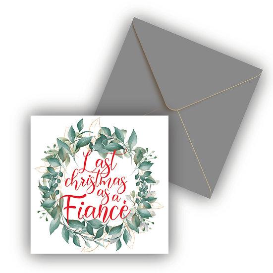 Fiancé Christmas Card