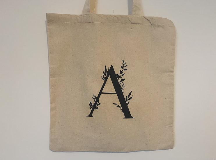 Personalised Initial Tote Bag