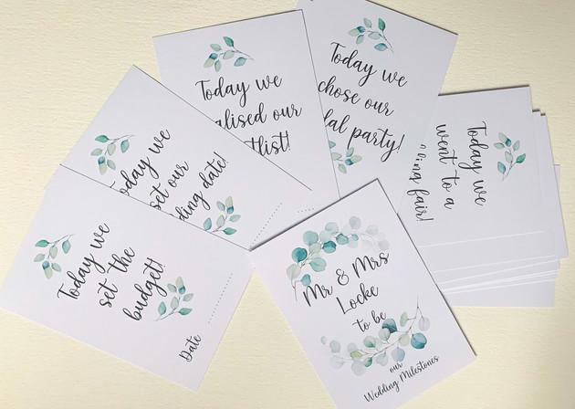 Wedding Planning Milestone Cards