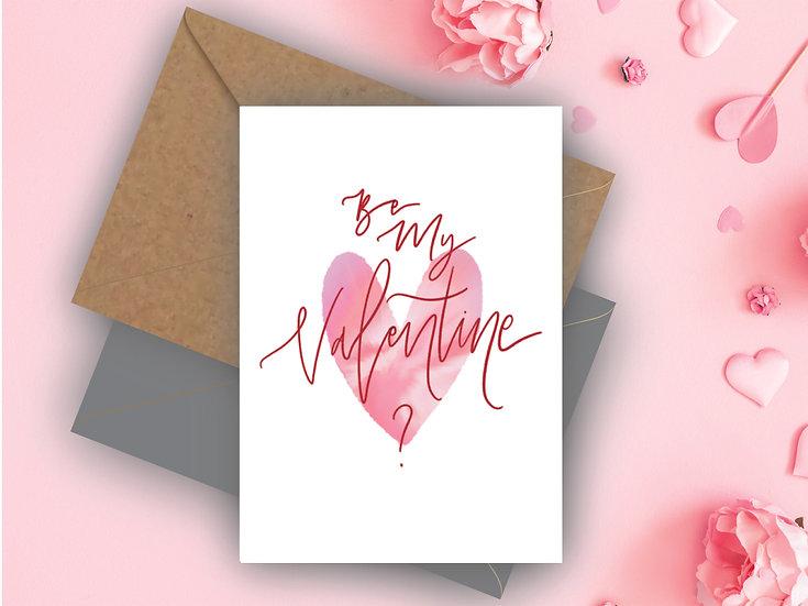 Be My Valentine? Valentine's Day Card Boyfriend Valentine's Day Card Girlfriend Valentine's Day Card, Fiance Valentine's Day