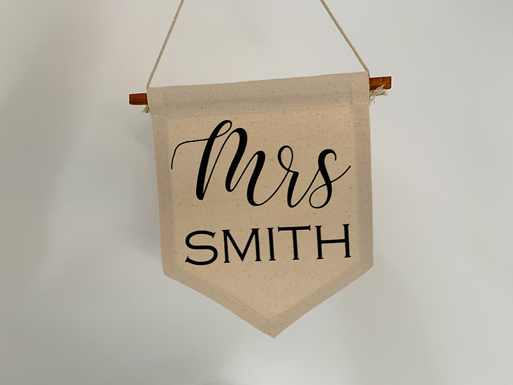 Canvas Personalised Wedding Sign Pair