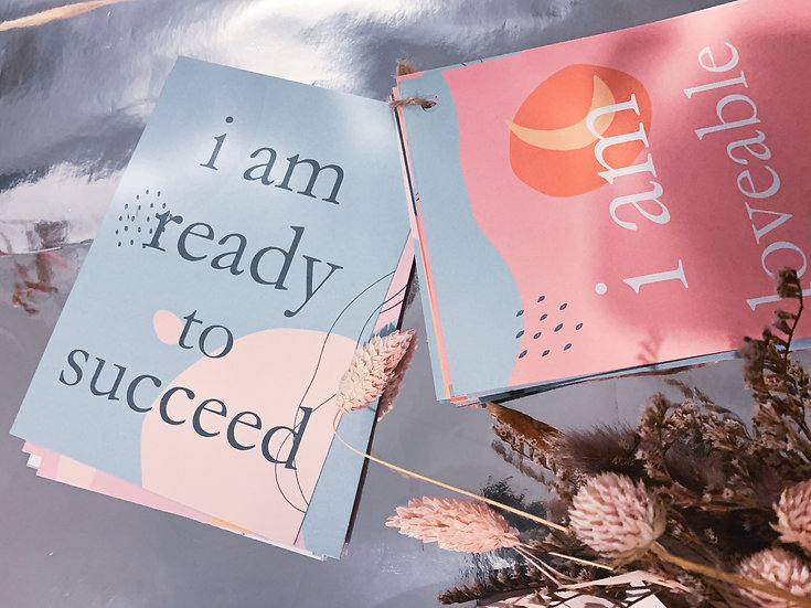 Affirmation cards, affirmation gift, daily affirmation, affirmation card gift, thoughtful gift, personalised affirmation card