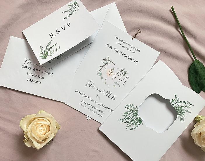 """Wedding Invitation RSVP """"Secret Garden"""""""