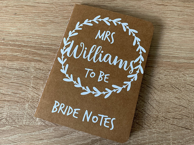 Personalised A6 Wedding Planning Notebook
