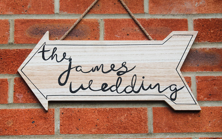Wooden Wedding Arrow