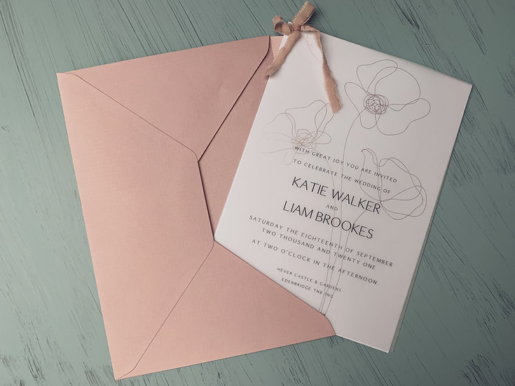"Wedding Invitation ""Modern Elegance"""