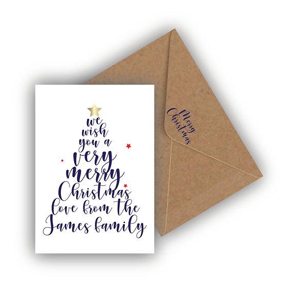 Christmas Card Personalised