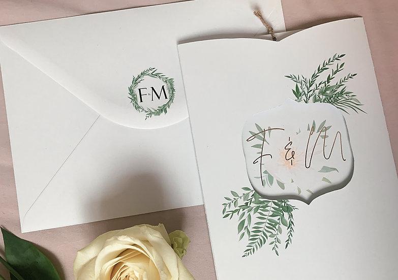"Wedding Invitation Sleeve ""Secret Garden"""