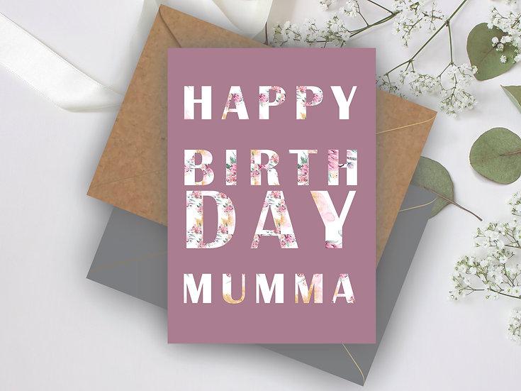 Happy Birthday Floral Personalised Birthday Card