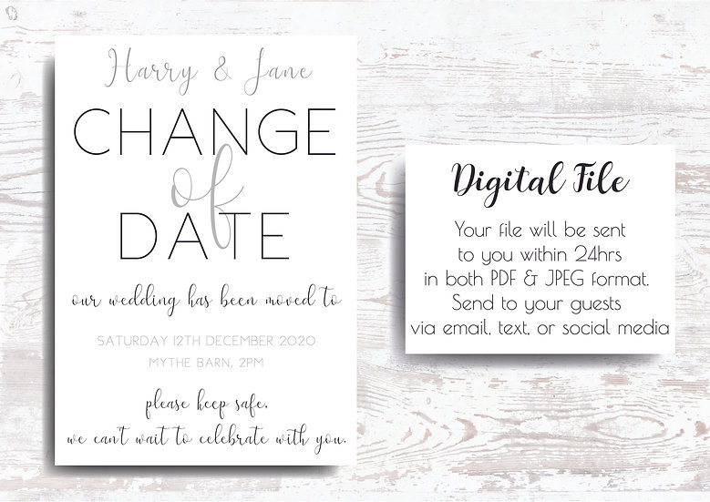 CoronaVirus Covid-19 postpone postoned wedding date change wedding change the date wedding new date cancelled wedding wedding