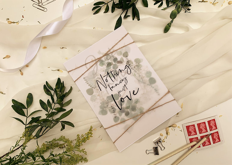 "Wedding Invitation Bundle ""Flowering Eucalyptus"""