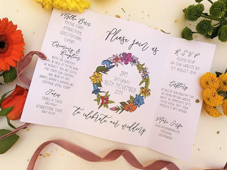 """Wedding Invitation Bundle """"Boho Botanicals"""""""