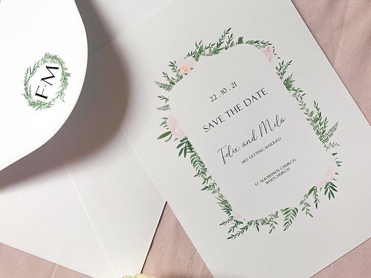 """Wedding Save the Date """"Secret Garden"""""""