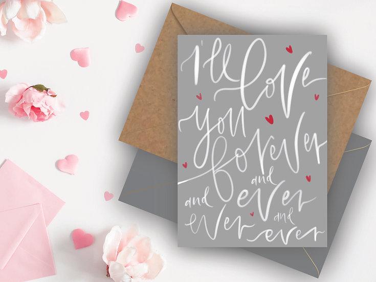 Love You Valentine's Day Card Boyfriend Valentines Day Card Girlfriend Valentines Day Card, Fiance Valentines Day Card