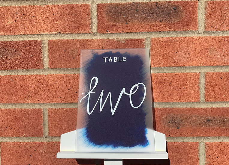 Clear & Frosted Acrylic 3mm Table Name Sign  White Classic Relaxed Wedding Table Name Modern Rustic Barn Wedding  Modern Luxu