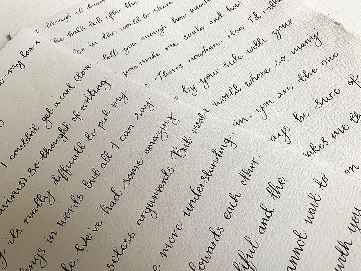 A4 Hand Written Calligraphy Style Letter