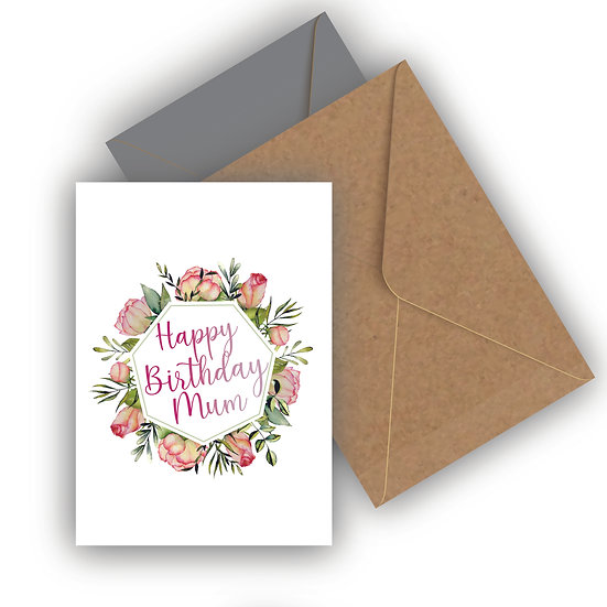 Happy Birthday Rose Personalised Birthday Card