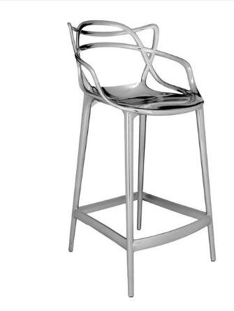 Sgabello Masters stool /Kartell art. 5849 metallizzato