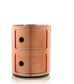 Cassettiera Componibili 2 cassetti metallizzati/Kartell art. 5966