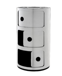 Cassettiera Componibili 3 cassetti metallizzati/Kartell art.5967