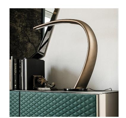 Lampada tavolo Mamba -colore brushed bronze/ Cattelan