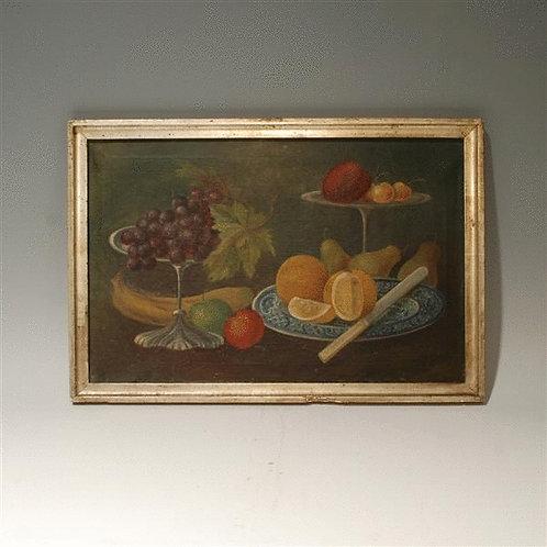 19th Century Antique Still Life Oil on Canvas - £2750
